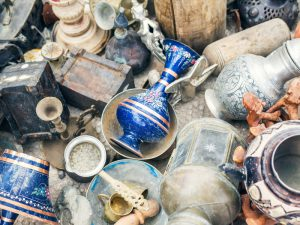 Turkish antiquities at the flee-market in Cappadocia, Central Turkey